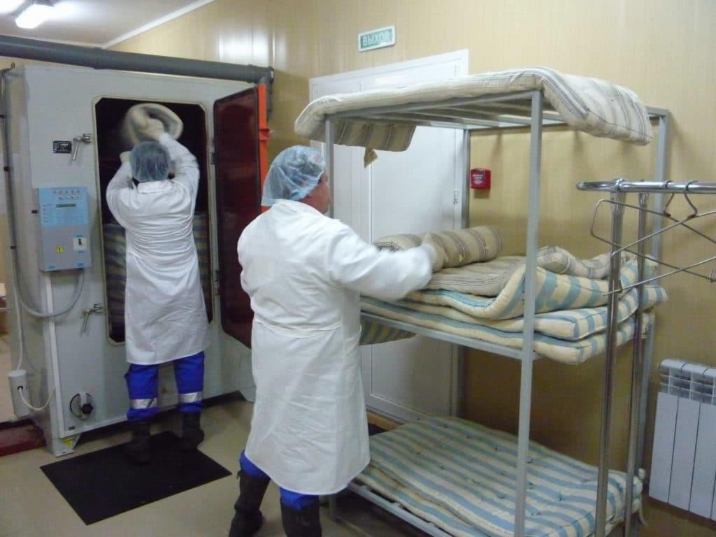 Хлорирование места пациента
